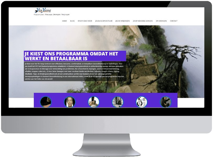 Yinyangcentrum webdesign