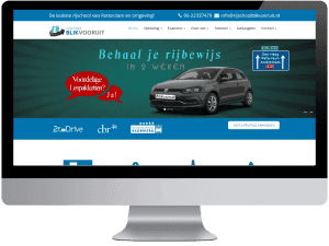 Rijschool blikvooruit webdesign